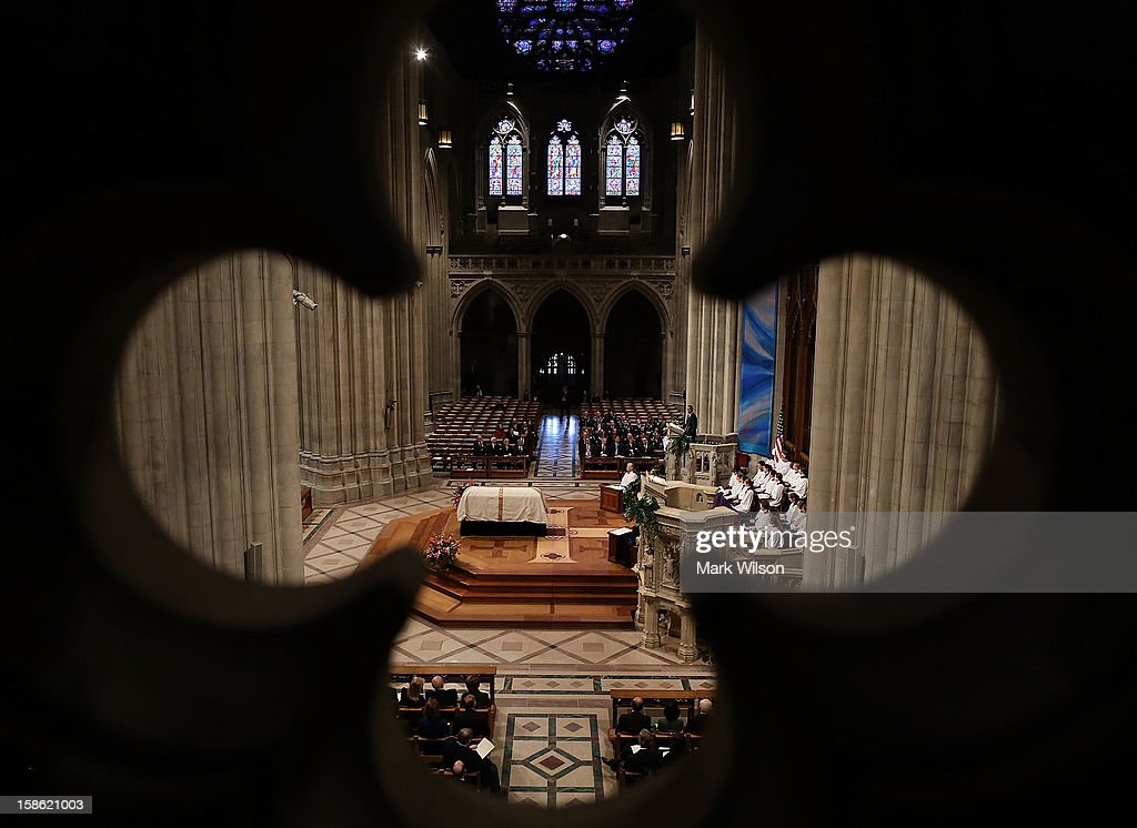 President Barack Obama speaks during the funeral service for late Sen. Daniel Inouye (D-HI) at the National Cathedral on December 21, 2012 in Washington, DC. Sen. Inouye, who was the most senior senator and a Medal of Honor recipient, died on December 17 at the age of 88.