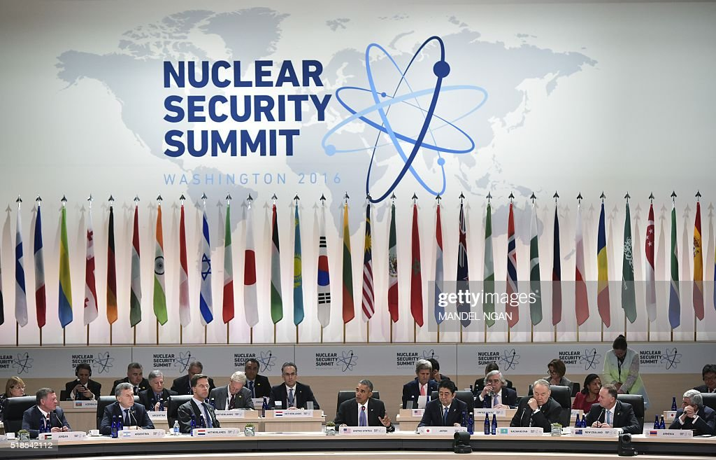 President Barack Obama speaks during the opening plenary of the Nuclear Security Summit at the Walter E Washington Convention Center on April 1 2016...