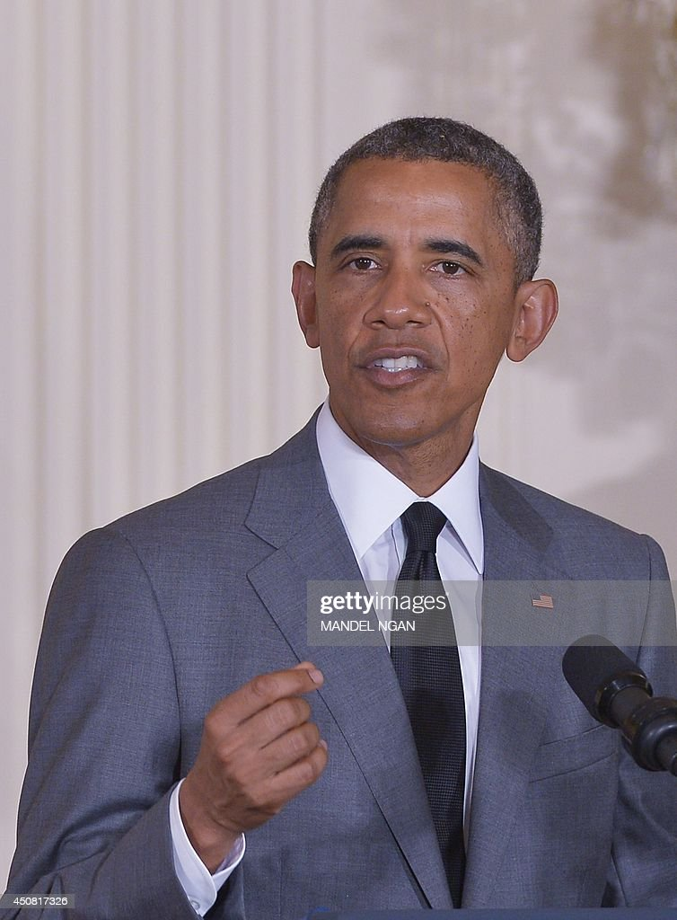 US President <a gi-track='captionPersonalityLinkClicked' href=/galleries/search?phrase=Barack+Obama&family=editorial&specificpeople=203260 ng-click='$event.stopPropagation()'>Barack Obama</a> speaks during the White House Maker Faire on June 18, 2014 in the East Room of the White House in Washington, DC. AFP PHOTO/Mandel NGAN