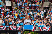President Barack Obama speaks to supporters at a campaign rally at the Value City Arena on the campus of Ohio State University in Columbus OH