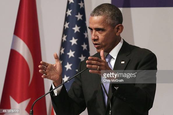 President Barack Obama speaks to the media during his closing press conference on day two of the G20 Turkey Leaders Summit on November 16 2015 in...