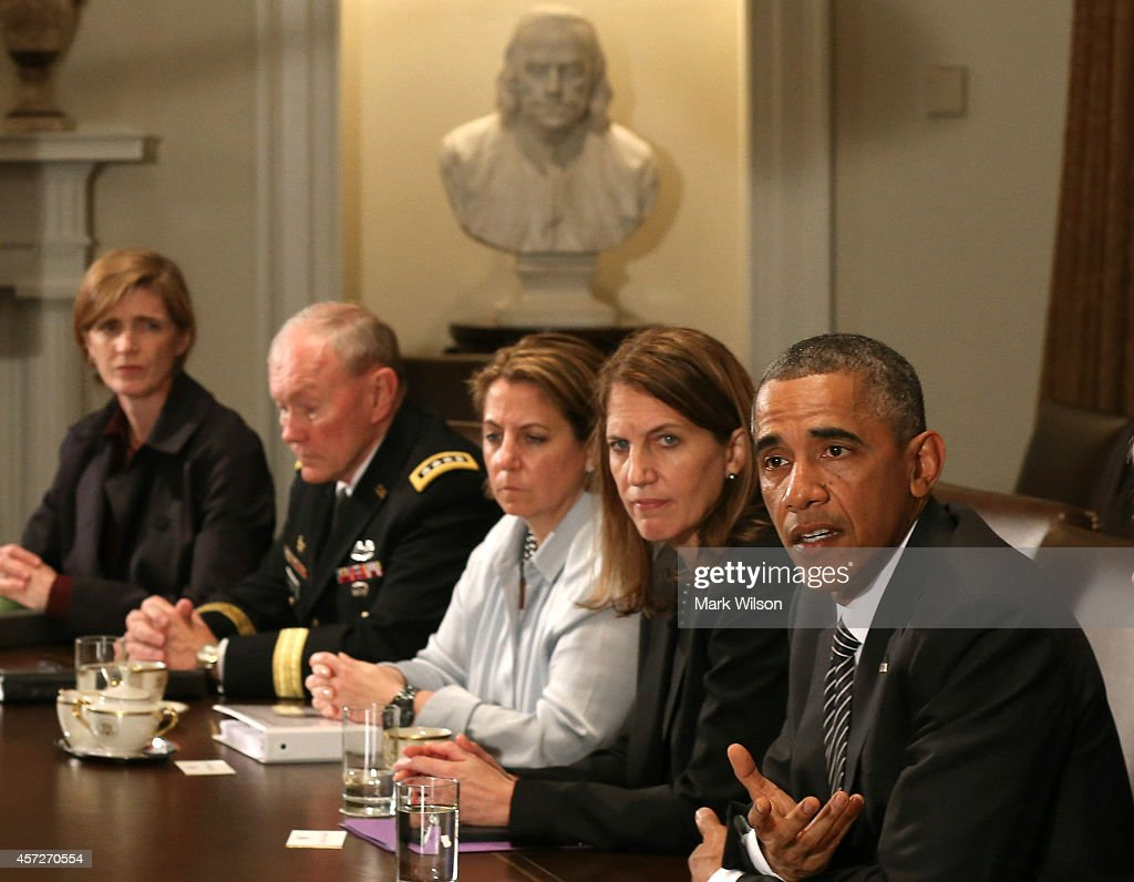 Obama And Cabinet President Obama Meets With Cabinet Members On Ebola Crisis Photos