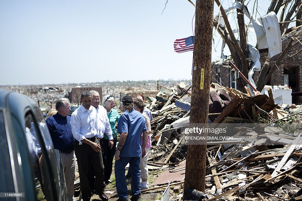 US President Barack Obama tours tornado damage on May 29 2011 in Joplin Missouri Victims of a Joplin Missouri tornado continue to recover as 2011...