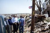 US President Barack Obama tours tornado damage on May 29 2011 in Joplin Missouri Victims of a Joplin Missouri tornado continue to recover as 2011...