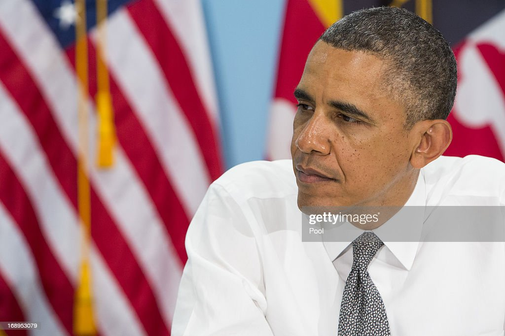 U.S. President <a gi-track='captionPersonalityLinkClicked' href=/galleries/search?phrase=Barack+Obama&family=editorial&specificpeople=203260 ng-click='$event.stopPropagation()'>Barack Obama</a> visits visits the Center for Urban Families on May 17, 2013 in Baltimore, Maryland. Obama's visit to Baltimore includes a visit to an elementary School, a manufacturing plant and a local community center.