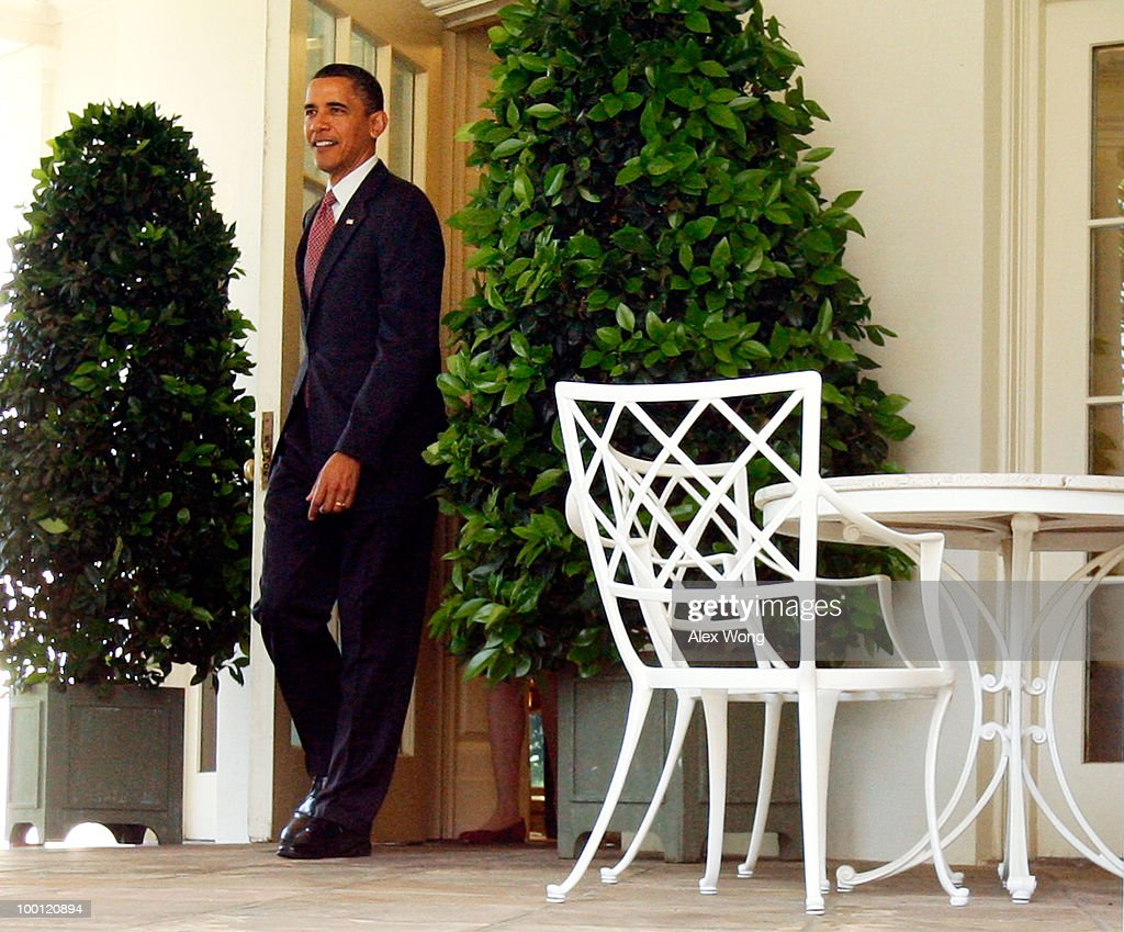 us president barack obama walks out from the oval office for a rose garden event at barack obama enters oval