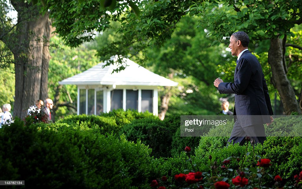 Exceptional US President Barack Obama Walks To The Podium During A Cinco De Mayo  Reception In The