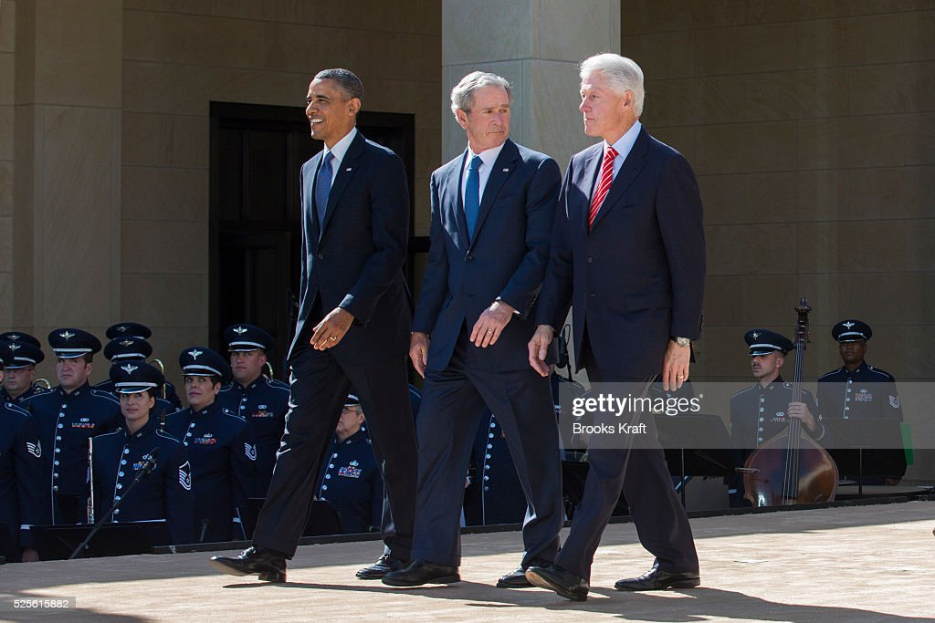 Five Presidents attend the Dedication of the George W Bush