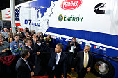 US President Barack Obama waves to guests as he departs after making remarks on the economy at a Safeway Distribution Center February 18 in Upper...