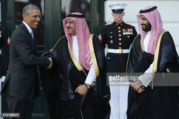 S President Barack Obama welcomes Crown Prince Mohammed bin Nayef and Deputy Crown Prince Mohammed bin Salman of Saudi Arabia to the White House May...
