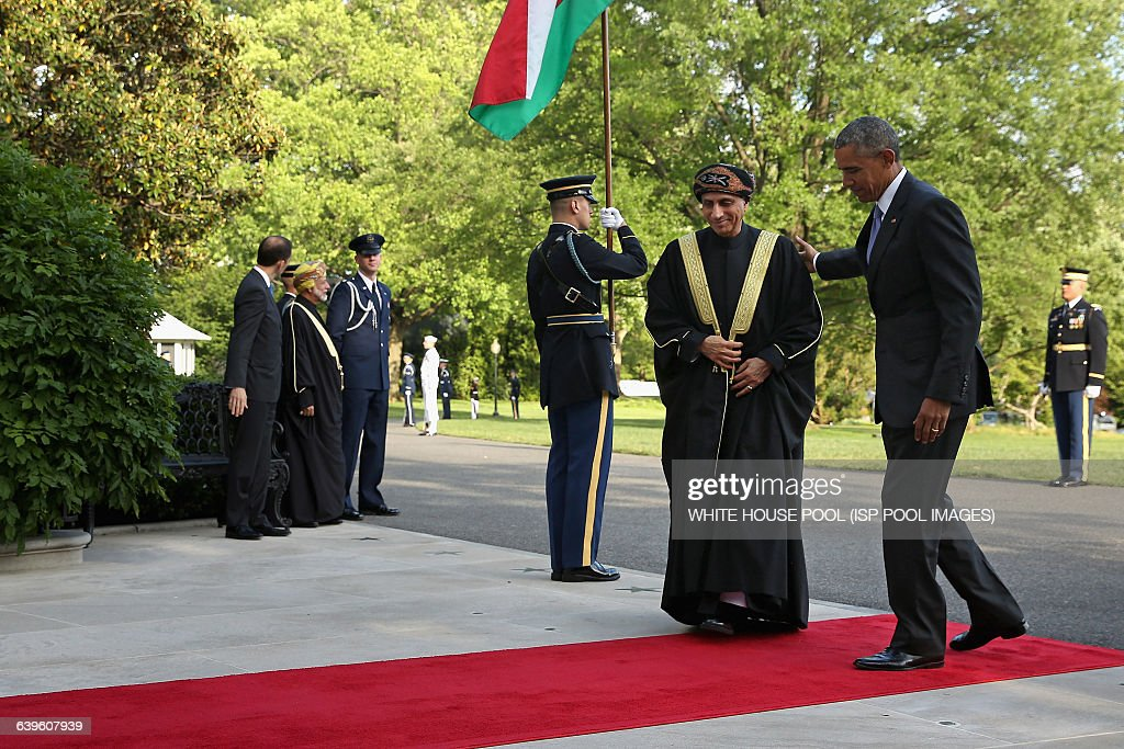 US President Barack Obama welcomes Sayyid Fahad bin Mahmood Al Said Deputy Prime Minister for the Council of Ministers' Affairs of the Sultanate of...