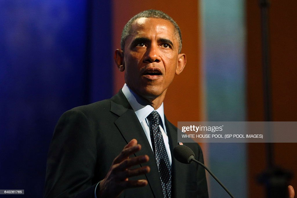 S President Barack Obama who is in New York City for the 69th Session of the United Nations General Assembly speaks at the Clinton Global Initiative...