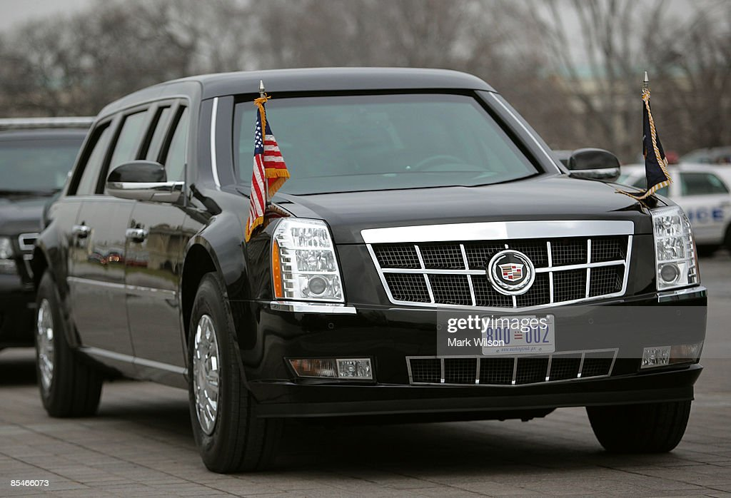 U.S. President Barack Obama's armored Cadillac limousine sits at the U.S. Capitol on March 17, 2009 in Washington, DC. President Obama was attending a lunch honoring Irish Prime Minister Cowen on St. Patrick�s Day.