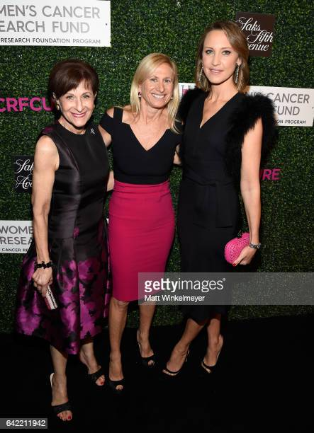 President BCRF Myra Biblowit Dr Elisa Port and chair of the BCRF Kinga Lampert attend WCRF's 'An Unforgettable Evening' presented by Saks Fifth...