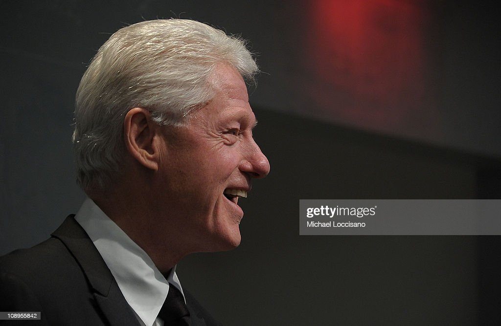 President Bill Clinton addresses the audience before the 'Walk In My Shoes: Conversations Between A Civil Rights Legend and His Godson on The Journey Ahead' book Event at The Paley Center for Media on February 9, 2011 in New York City.