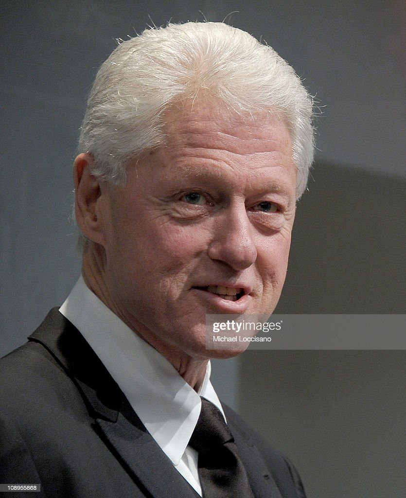 President <a gi-track='captionPersonalityLinkClicked' href=/galleries/search?phrase=Bill+Clinton&family=editorial&specificpeople=67203 ng-click='$event.stopPropagation()'>Bill Clinton</a> addresses the audience before the 'Walk In My Shoes: Conversations Between A Civil Rights Legend and His Godson on The Journey Ahead' book Event at The Paley Center for Media on February 9, 2011 in New York City.