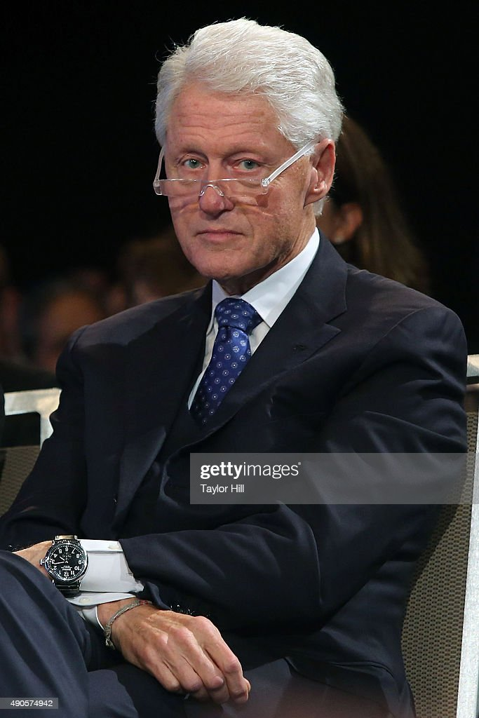 President <a gi-track='captionPersonalityLinkClicked' href=/galleries/search?phrase=Bill+Clinton&family=editorial&specificpeople=67203 ng-click='$event.stopPropagation()'>Bill Clinton</a> attends the 2015 Clinton Global Initiative Closing Plenary at Sheraton Times Square on September 29, 2015 in New York City.