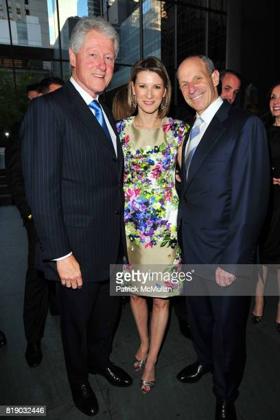 President Bill Clinton Lizzie Tisch and Jonathan Tisch attend JONATHAN TISCH 'Citizen You' Book Launch Party at The Museum of Modern Art on May 6...