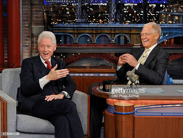 President Bill Clinton makes his final appearance on the Late Show with David Letterman Tuesday May 12 2015 on the CBS Television Network