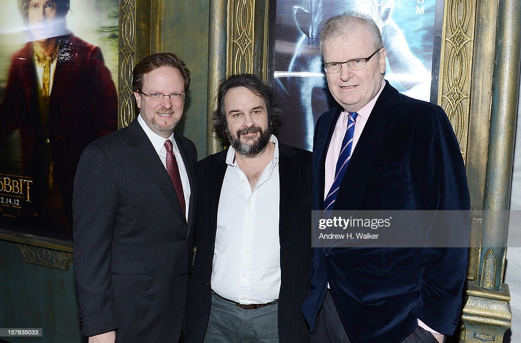 AFI president Bob Gazzale, filmmaker Sir Peter Jackson, and CEO of Sony Corp Sir Howard Stringer attend 'The Hobbit: An Unexpected Journey' New York premiere benefiting AFI at Ziegfeld Theater on December 6, 2012 in New York City.