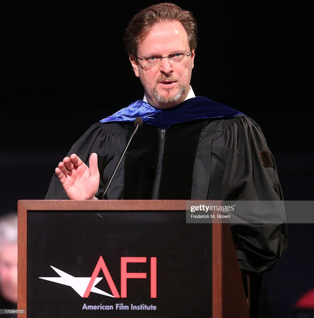 AFI President Bob Gazzale speaks during the 2013 AFI Conservatory Commencement Ceremony at the El Capitan Theatre on June 12, 2013 in Hollywood, California.
