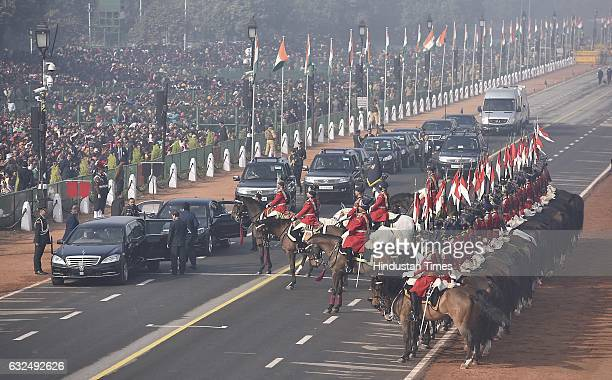President bodyguard recruitment during the full dress resheashal Republic Day parade on Rajpath on January 23 2017 in New Delhi India India will...