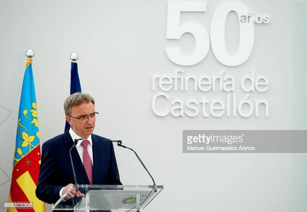 President BP Spain Luis Aires attends 50th Anniversary Of BP Refinery at Castellon BP Refinery on June 21 2017 in Castellon Spain