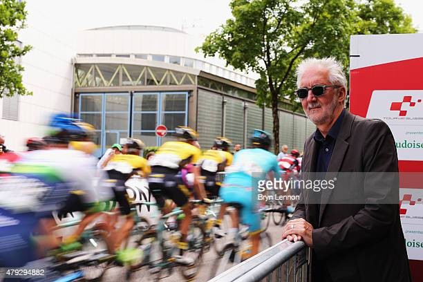 President Brian Cookson attends the penultimate stage of the Tour de Suisse in Bern on June 20 2015 in Bern