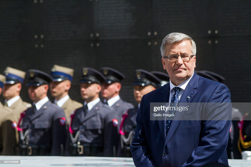 President <a gi-track='captionPersonalityLinkClicked' href=/galleries/search?phrase=Bronislaw+Komorowski&family=editorial&specificpeople=836872 ng-click='$event.stopPropagation()'>Bronislaw Komorowski</a> after speech to Warsaw's Insurgents on July 31, 2015 at Freedom Park at the Warsaw Uprising Museum in Warsaw, Poland. The Warsaw Uprising was a major World War II operation led by the Polish resistance Army to liberate Warsaw from the Nazis. The Warsaw Uprising was one of the largest and most fierce urban battles of World War II, comparable only with the fighting in Stalingrad. The Uprising was the largest single military effort taken by any European resistance movement during World War II.