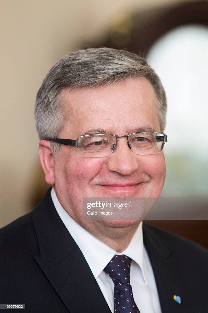President <a gi-track='captionPersonalityLinkClicked' href=/galleries/search?phrase=Bronislaw+Komorowski&family=editorial&specificpeople=836872 ng-click='$event.stopPropagation()'>Bronislaw Komorowski</a> during his state visit on April 8, 2015 in Kiev, Ukraine. President Komorowski is on a two-day state visit to Ukraine.