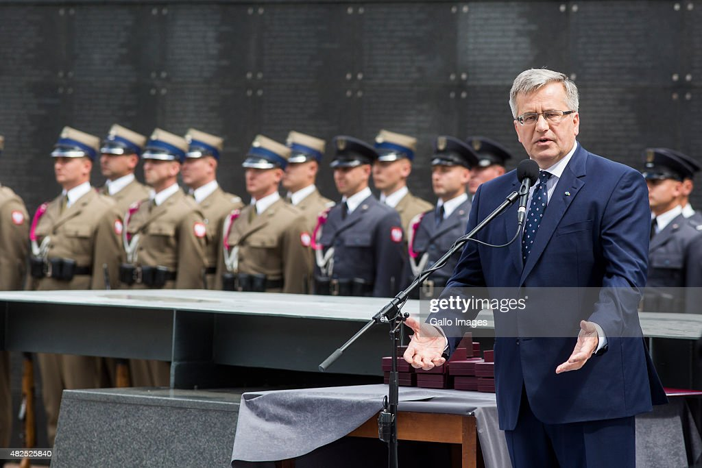 President <a gi-track='captionPersonalityLinkClicked' href=/galleries/search?phrase=Bronislaw+Komorowski&family=editorial&specificpeople=836872 ng-click='$event.stopPropagation()'>Bronislaw Komorowski</a> speaks to Warsaw's Insurgents on July 31, 2015 at Freedom Park at the Warsaw Uprising Museum in Warsaw, Poland. The Warsaw Uprising was a major World War II operation led by the Polish resistance Army to liberate Warsaw from the Nazis. The Warsaw Uprising was one of the largest and most fierce urban battles of World War II, comparable only with the fighting in Stalingrad. The Uprising was the largest single military effort taken by any European resistance movement during World War II.