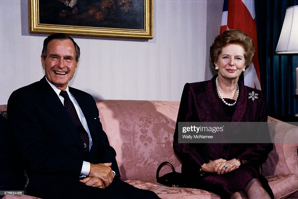 President Bush and Margaret Thatcher