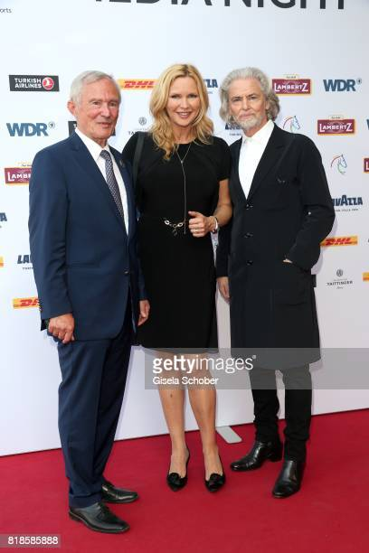 President Carl Meulenbergh Veronica Ferres and CEO Lambertz Hermann Buehlbecker during the media night of the CHIO 2017 on July 18 2017 in Aachen...