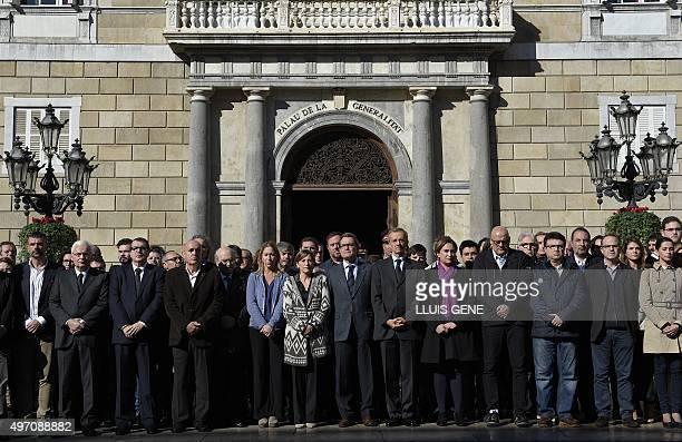 President Catalonia's Parliament Carme Forcadell President of Catalonia's regional government Artur Mas Consul General of France in Barcelona Edouard...