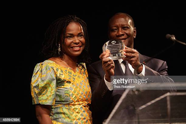 President CEO Amini Kajunju and Ivory Coast President Alassane Ouattara attend the 30th Annual Awards Gala hosted by The AfricaAmerica Institute at...