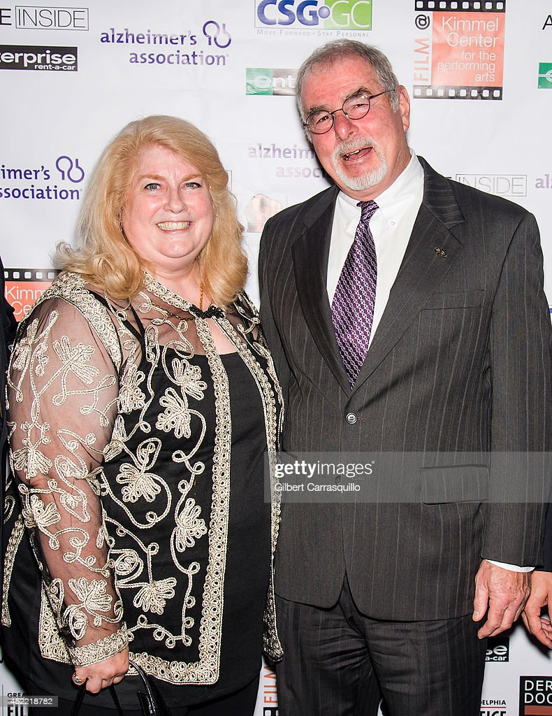 President & CEO at Alzheimer's Asso. Delaware Valley Chapter Wendy Campbell and Board chair Greg Tigani attend the 'Alive Inside' screening at Kimmel Center for the Performing Arts on July 15, 2014 in Philadelphia, Pennsylvania.
