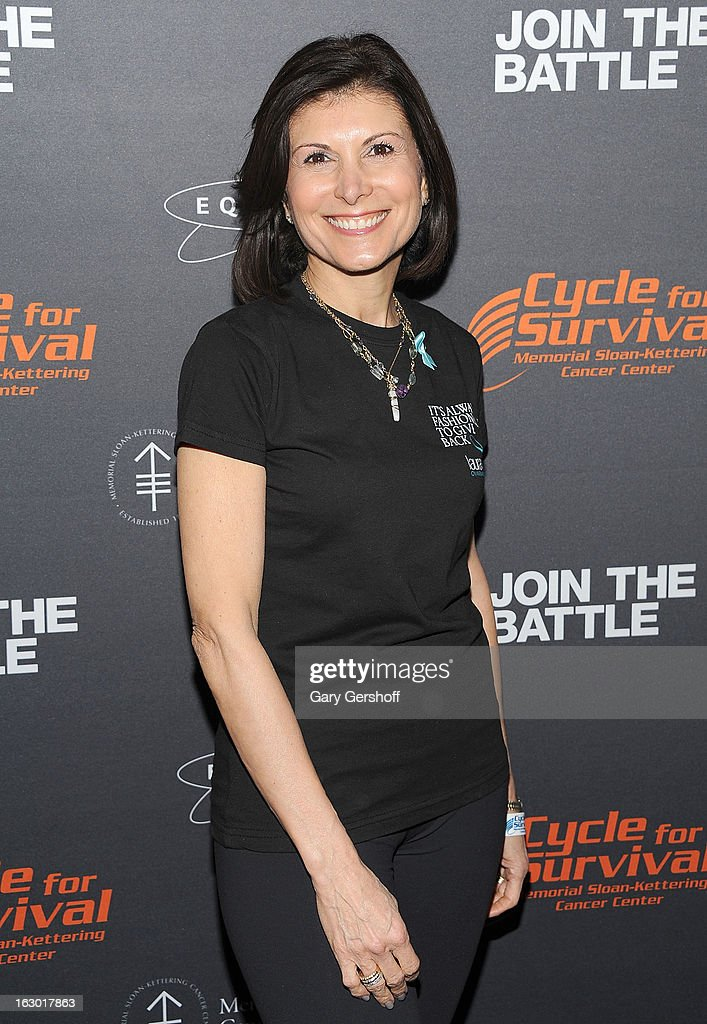 President & CEO, Gurwitch Products, Claudia Poccia attends the 2013 Cycle For Survival Benefit at Equinox Rock Center on March 3, 2013 in New York City.