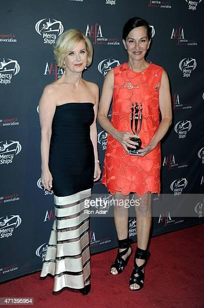 President CEO Juanita D Duggan and Fashion Designer Cynthia Rowley attend the 2015 AAFA American Image Awards on April 27 2015 in New York City