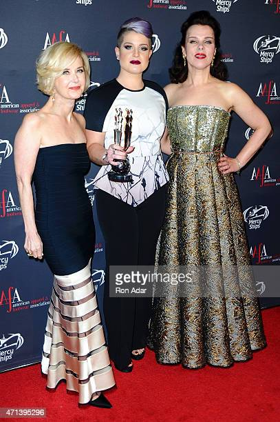 AAFA President CEO Juanita D Duggan Kelly Osbourne and actress Debi Mazar attend the 2015 AAFA American Image Awards on April 27 2015 in New York City