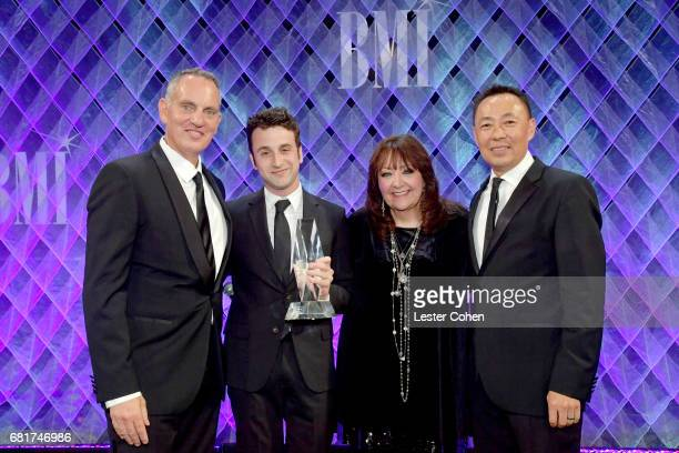 BMI President CEO Mike O'Neill honoree Justin Hurwitz BMI VP Film TV Visual Media Relations Doreen RingerRoss and Assistant Vice President of Film TV...