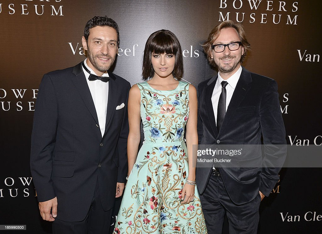 President & CEO of Americas at Van Cleef & Arpels Alain Bernard, actress <a gi-track='captionPersonalityLinkClicked' href=/galleries/search?phrase=Camilla+Belle&family=editorial&specificpeople=210585 ng-click='$event.stopPropagation()'>Camilla Belle</a> and Nicolas Bos, Global CEO and Creative Director at Van Cleef & Arpels attend A Quest for Beauty: The Art Of Van Cleef & Arpels - Red Carpet at The Bowers Museum on October 26, 2013 in Santa Ana, California.