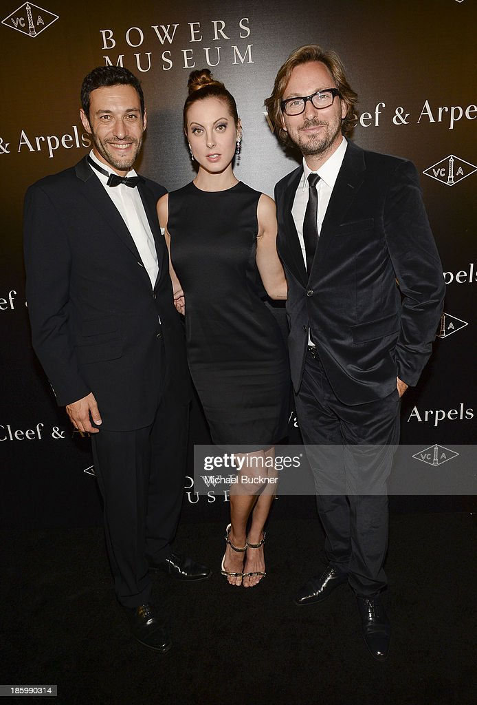 President & CEO of Americas at Van Cleef & Arpels Alain Bernard, actress Eva Amurri and Nicolas Bos, Global CEO and Creative Director at Van Cleef & Arpels attend A Quest for Beauty: The Art Of Van Cleef & Arpels - Red Carpet at The Bowers Museum on October 26, 2013 in Santa Ana, California.