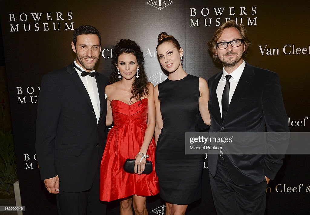 President & CEO of Americas at Van Cleef & Arpels Alain Bernard, actresses AnnaLynne McCord and Eva Amurri and Nicolas Bos, Global CEO and Creative Director at Van Cleef & Arpels attend A Quest for Beauty: The Art Of Van Cleef & Arpels - Red Carpet at The Bowers Museum on October 26, 2013 in Santa Ana, California.