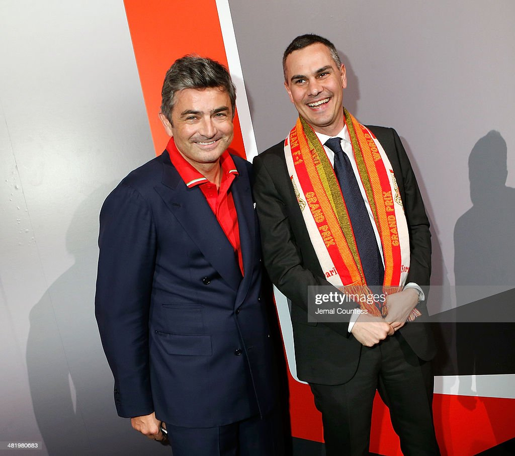 President & CEO of Ferrari North America Marco Mattiacci and Director of Exhibitions at the New Museum Massimiliano Gioni attend The New Museum Annual Spring Gala at Cipriani Wall Street on April 1, 2014 in New York City.