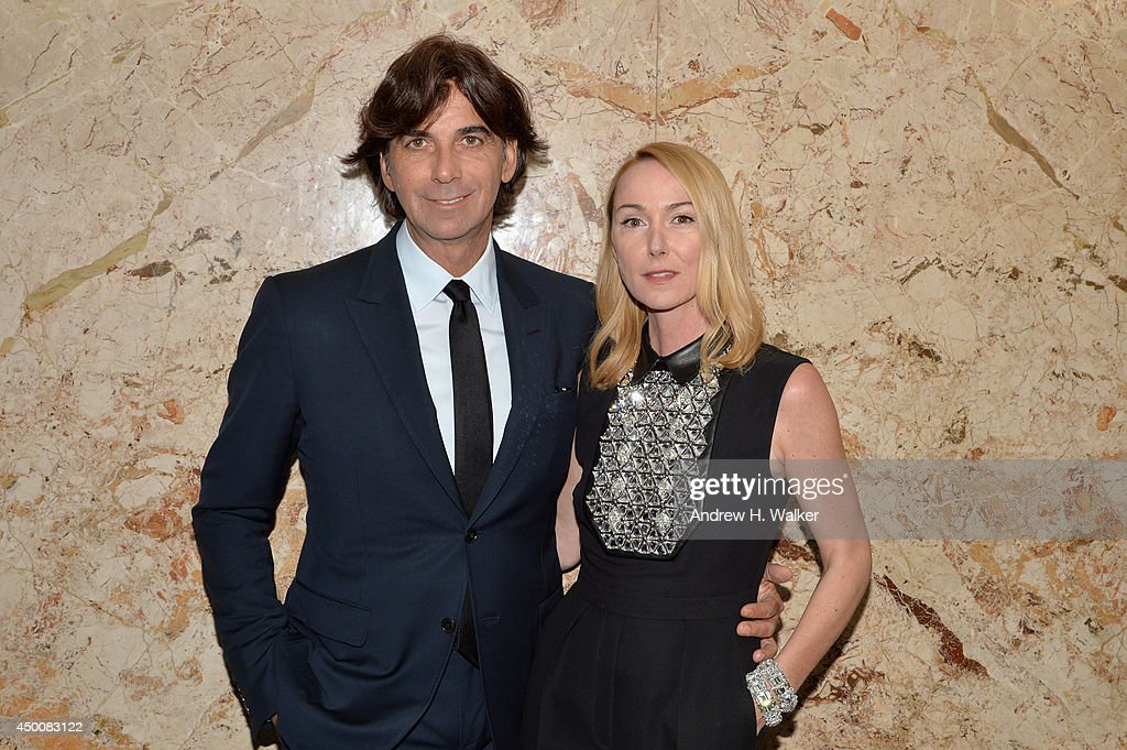 President & CEO of Gucci Patrizio di Marco (L) and Gucci Creative Director Frida Giannini attend the Gucci beauty launch event hosted by Frida Giannini on June 4, 2014 in New York City.