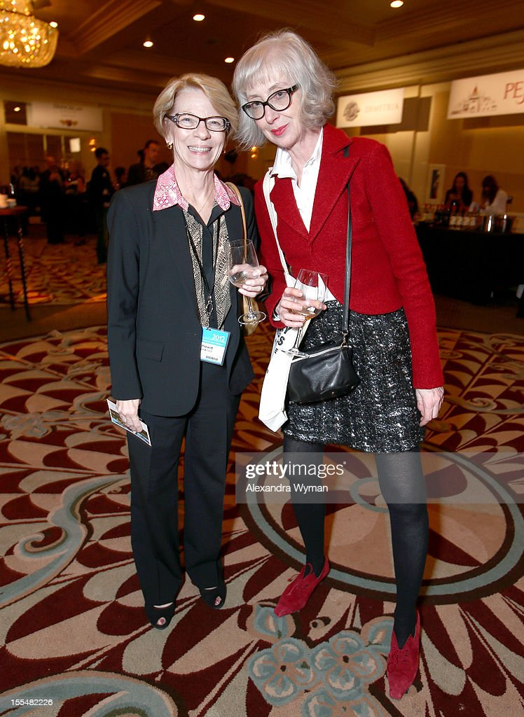 President & CEO of IFTA Jean Prewitt (L) and Entertainment One EVP of International Sales Charlotte Mickie attend the IFTA California Wine Tasting event during the American Film Market at the Fairmont Miramar Hotel on November 3, 2012 in Santa Monica, California.