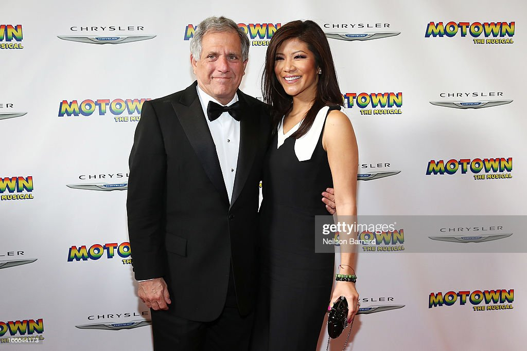 President & CEO of the CBS Corporation Leslie Moonves and TV personality <a gi-track='captionPersonalityLinkClicked' href=/galleries/search?phrase=Julie+Chen&family=editorial&specificpeople=206213 ng-click='$event.stopPropagation()'>Julie Chen</a> attend the Broadway opening night for 'Motown: The Musical' at Lunt-Fontanne Theatre on April 14, 2013 in New York City.