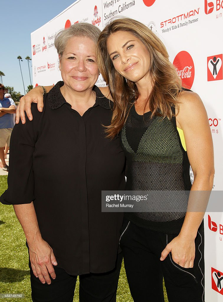 President & CEO of the Dave Thomas Foundation For Adoption Rita Soronen and trainer <a gi-track='captionPersonalityLinkClicked' href=/galleries/search?phrase=Jillian+Michaels&family=editorial&specificpeople=2303813 ng-click='$event.stopPropagation()'>Jillian Michaels</a> attend Kickball For A Home - Celebrity Challenge presented by Dave Thomas Foundation For Adoption at USC on August 16, 2014 in Los Angeles, California.