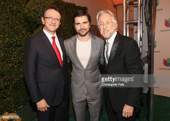 President CEO of the Latin Academy of Recording Arts Sciences Gabriel Abaroa singer Juanes and President of the National Academy of Recording Arts...