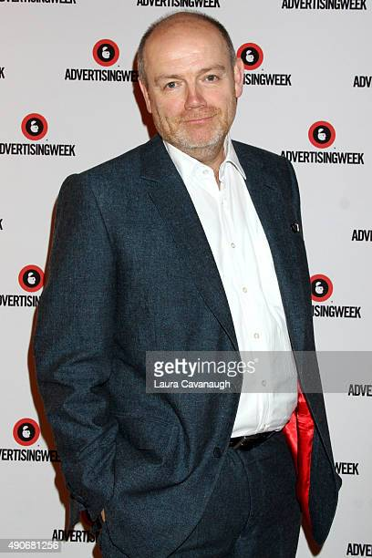 President CEO of The New York Times Company Mark Thompson poses at the CEO Connectors Presented by ATT AdWorks panel during Advertising Week 2015...